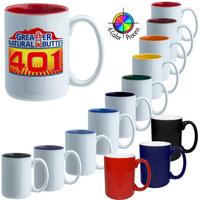 15oz El Grande Two-Tone Mug, four color