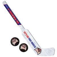 Mini Goalie Stick and 2 Pucks