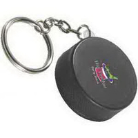 Hockey Puck Key Chain Stress Reliever