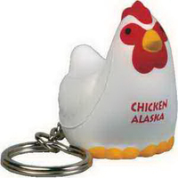 Chicken Key Chain Stress Reliever