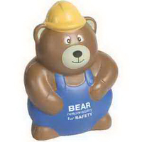 Construction Worker Bear Stress Reliever