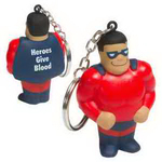 Super Hero with Key Chain Stress Reliever