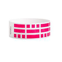 "White Tyvek® 1"" Design Rhod Red Bricks Wristband"