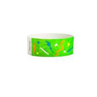 "Tyvek® 1"" Design Green Confetti Wristband"