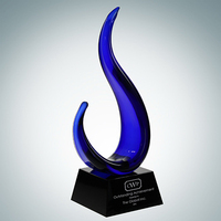 Art Glass The Tripod Award with Black Wood Base