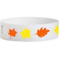 """Tyvek® 3/4"""" Design Leaves of Fall Wristband"""