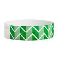 "Tyvek® 3/4"" Design Zig Zags Wristband"