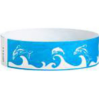 "Tyvek® 3/4"" Design Dolphins Wristband"