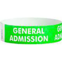 "Tyvek® 3/4"" Design Green General Admission Wristband"