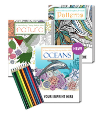 Gift Pack Coloring Book for Adults, Colored Pencil Set