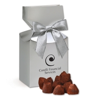 Cocoa Dusted Truffles in Silver Gift Box