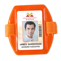 "Reflective Vertical Armband Badge Holders, 2.38"" x 3.38"""