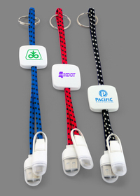 Braided 2-In-1 Charging and Data Sync Cables