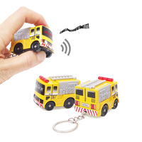 Fire Truck LED Light Keychain Toy