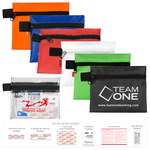 14 Piece On The Go First Aid Kit in Polyester Zipper Pouch