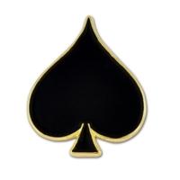 Black Spade Lapel Pin