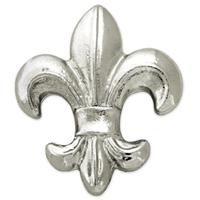 Silver Fleur-de-lis Lapel Pin