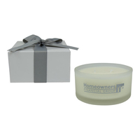 8 oz Frosted Spa Candle in Gift Box