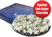 Custom Pizza Box with Chocolate Pizza