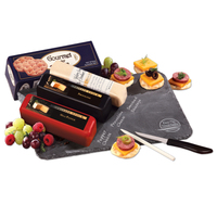 Slate Serving Plate with Shelf-Stable Cheese & Sausage