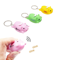 Flying Pig Novelty Led Light Key Tag