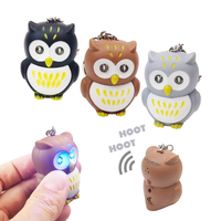 Owl Novelty LED Light Key Tag
