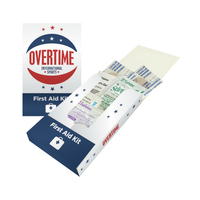 First Aid Pocket Kit - Bandages, Cortisone, Burn