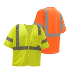 Class 3 Mesh Zip Safety Vest - Orange