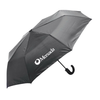42in. Tri-Fold Umbrella with J-Hook Handle
