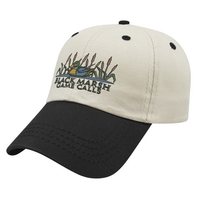 Unstructured Contrasting Visor Twill Cap