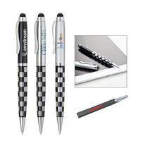 Heavyweight twist action ballpoint pen with stylus
