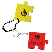 Puzzle Piece Floating Key Chain
