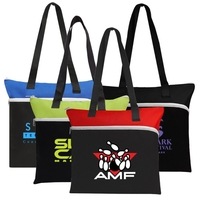 Poly Large Zipper Tote Bag