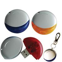 Round USB Flash Drive - 128 MB Memory