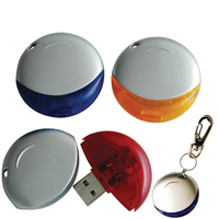 Round USB Flash Drive - 256 MB Memory