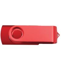 Red Swivel USB Flash Drive - 512 MB Memory