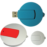 Round USB Flash Drive - 1 GB Memory