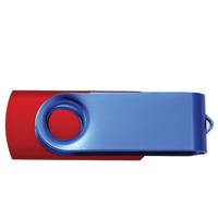 Blue Swivel USB Flash Drive - 16 GB Memory