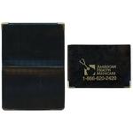 Castillion Vinyl Foldover Card Case with Metal Corners