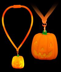 LED Flashing Lanyard - Pumpkin