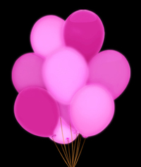 BLANK LED 14 Inch Blinky Balloons - Pink