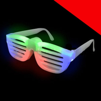 LED Rock Star Shutter Slotted Shades - Multicolor