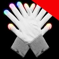 BLANK LED Gloves - White