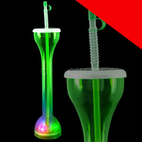 LED Drinking Bottle with Straw
