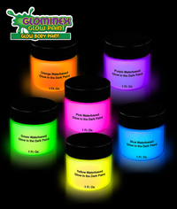 Blank Glominex Glow Body Paint 1 oz Jars - Assorted