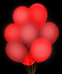 BLANK LED 14 Inch Blinky Balloons - Red