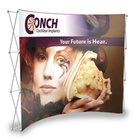 """10' Curved Fabric Display (117 1/4""""Wx89 1/2""""Hx34""""D)"""