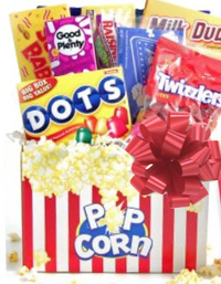 Popcorn & Candy Gift Basket