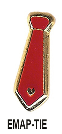 Red Tie Men's Heart Disease Awareness Lapel Pin