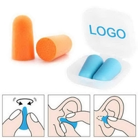 Comfort Ear Plugs with Plastic Frosted Protective Case
